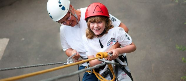 Disabled holidays: Abseil