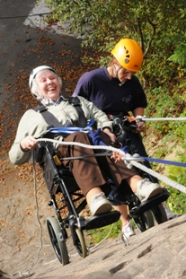 Wheelchair abseiling