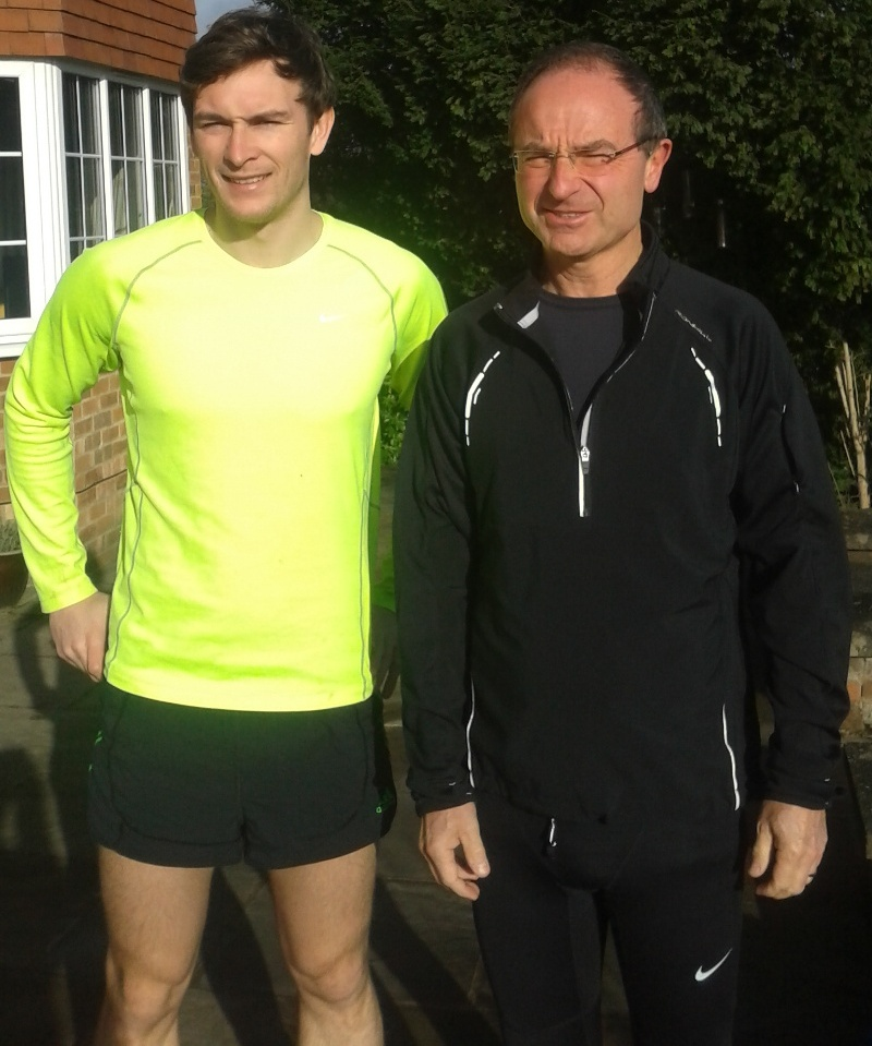 Henry is pictured here with Martin Pearman, Headmaster of Ripon Grammar School who will be running the 2015 Virgin Money London Marathon in aid of Calvert ...